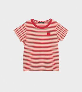 Mini Nash Striped SS T-shirt Red