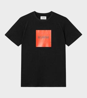 BLS - S/S Red Box Logo T-shirt Black