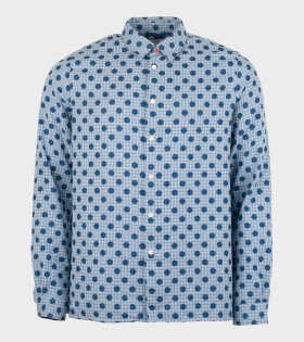 Paul Smith - L/S Casual Fit Dot Shirt Blue