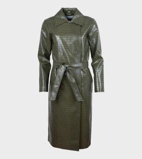 Saks Potts - Fab Coat Army Green
