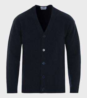 Bjorn Knitted Cardigan Blue