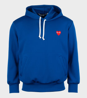Comme des Garcons PLAY - M Red Heart Hoodie Blue