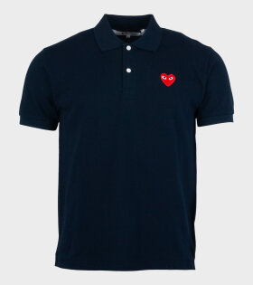 M Red Heart Polo Navy