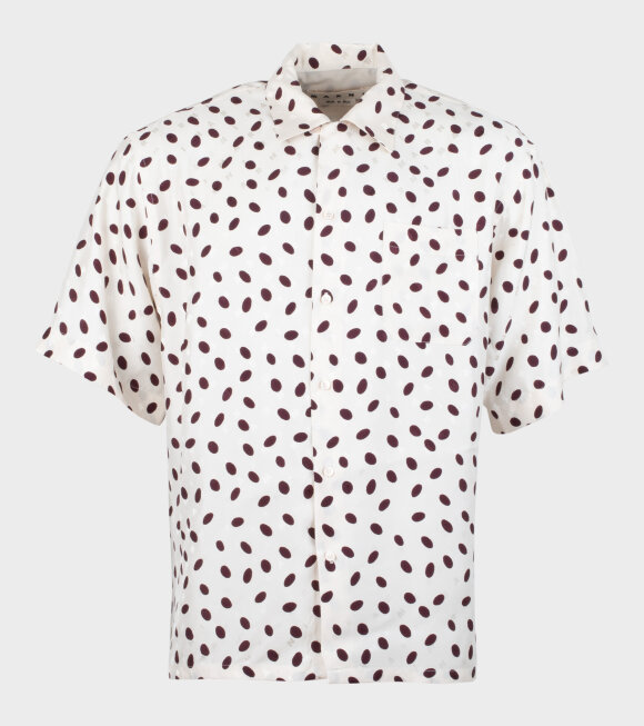 Marni - S/S Dotted Shirt Cream