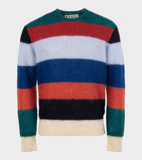 Marni - Roundneck Knit Sweater Multicolor