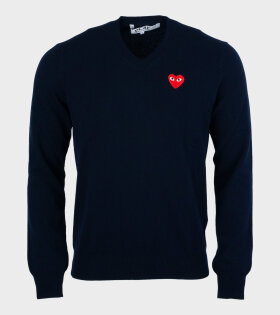 M Red Heart Knit Navy