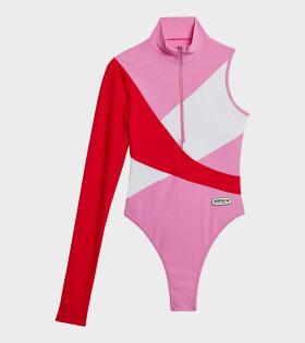 Adidas X Lotta Volkova - One Sleeve Swimsuit Pink