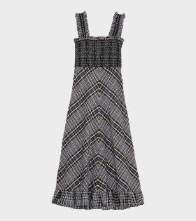 Ganni - Seersucker Maxi Dress Kalamata