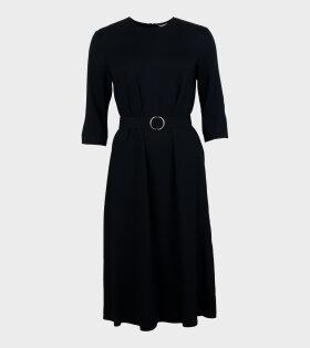 Caro Solid Dress Black