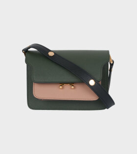 Marni - Mini Trunk Saffiano Bag Green/Beige/Black