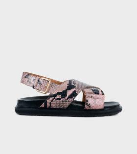 Fussbett Sandal Pink Snake