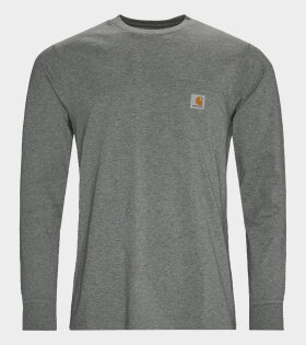 Carhartt WIP - L/S Pocket T-shirt Grey