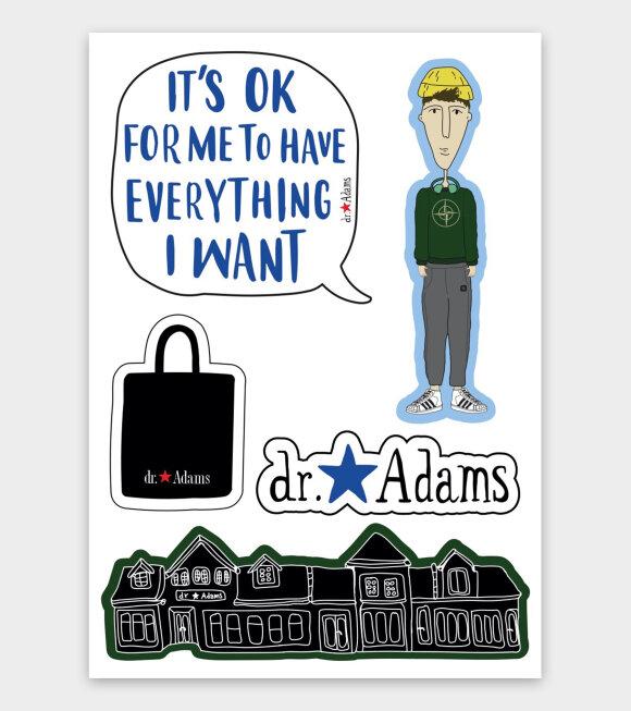 Dr. Adams  - Albert Stickers