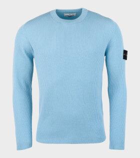 Crewneck Jumper Knit Blue