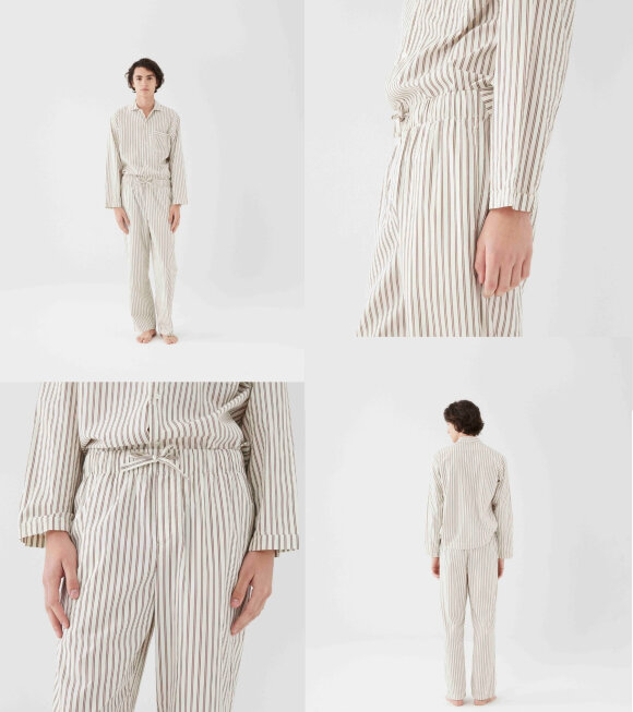 Tekla - Pyjamas Pants Hopper Stripes