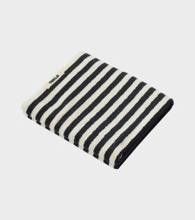 Bath Towel Black Stripes