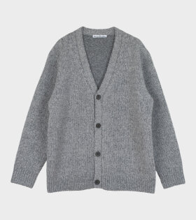 Melange V-neck Cardigan Grey