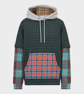 Patchwork Check Hoodie Multicolor