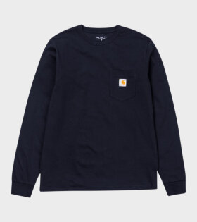 Carhartt WIP - L/S Pocket T-shirt Dark Navy