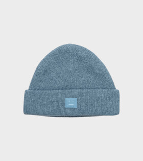 Acne Studios - Face Patch Beanie Mineral Blue