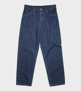 Loose Fit Jeans Dark Blue