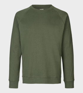 Cotton Rib Stelt Tape Sweatshirt Green