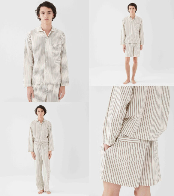 Tekla - Pyjamas Shirt Hopper Stripes