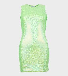 Vision Dress Flou Green Shimmer
