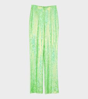 Lissi Pants Fluo Green Shimmer