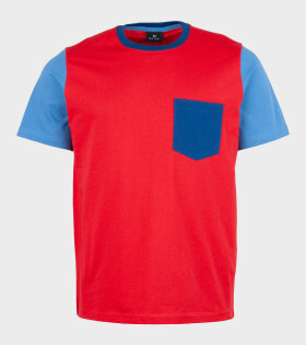 Paul Smith -  Mens Ls Cn Reg Fit T-shirt Red