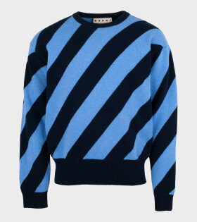 Marni - Zebra Sweater Blue/Navy