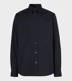 Burberry - Embroidered Logo Shirt Navy