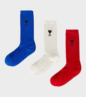 AMI - Three-pack Ami de Coeur Socks Multi