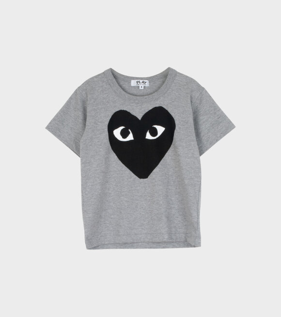 Comme des Garcons PLAY - K Black Big Heart T-shirt Grey