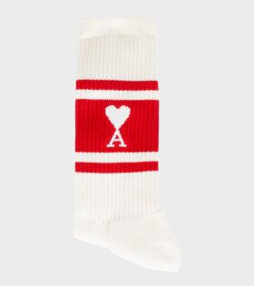 AMI - One-pack Ami de Coeur Socks Red