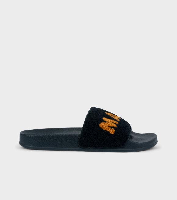 Marni - Flippers Logo Black/Orange