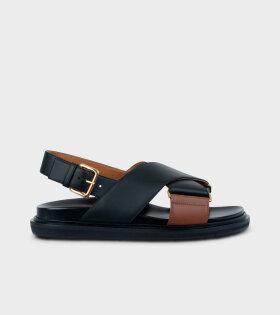 Fussbett Sandal Black/Brown