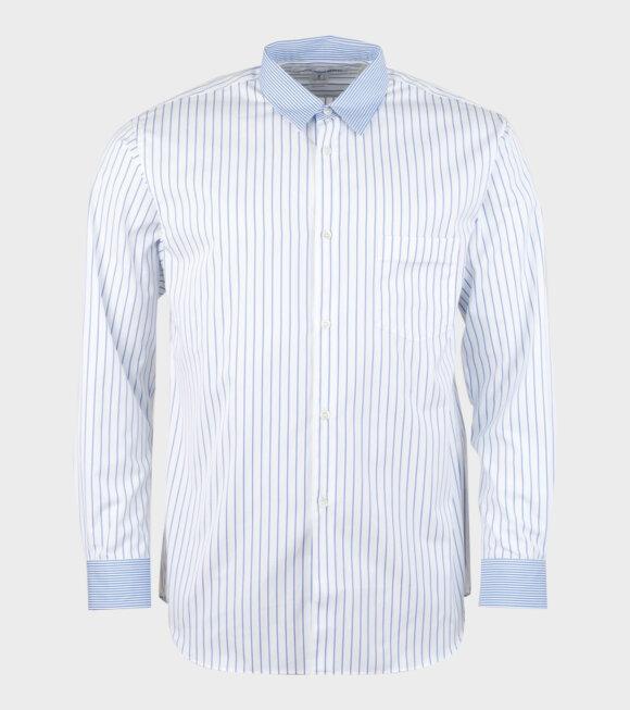 Comme des Garcons Shirt - L/S Shirt Stripe Blue/White