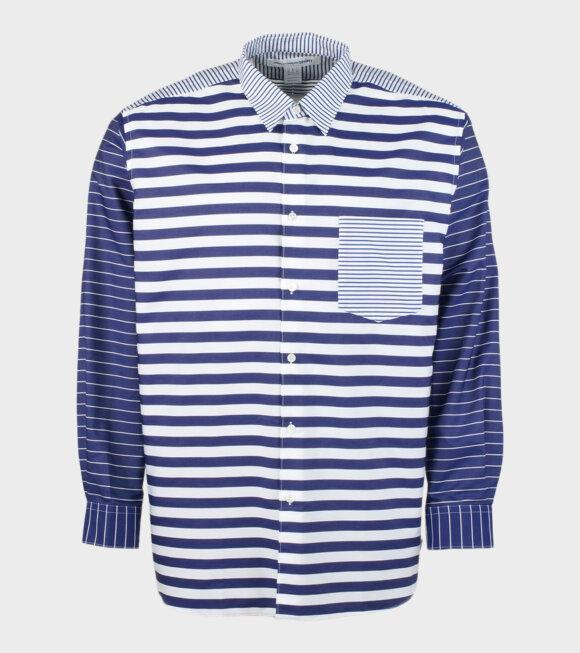 Comme des Garcons Shirt - L/S Shirt Stripe Navy/White