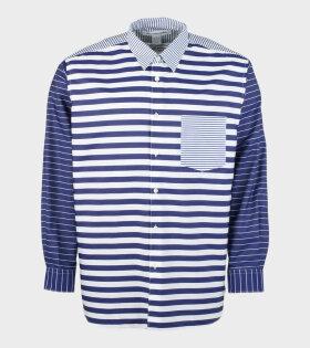 L/S Shirt Stripe Navy/White