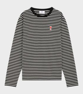 Ami de Coeur Striped T-shirt Black/White