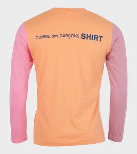 Comme des Garcons Shirt - Color Logo L/S T-shirt Multi