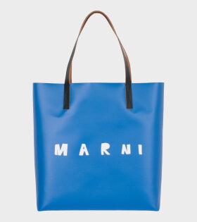 Marni Logo Tote Blue