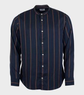 NN07 - Justin Shirt Navy/Brown