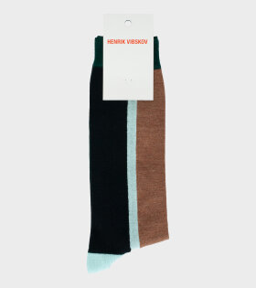 Henrik Vibskov - Block Socks Brown Front