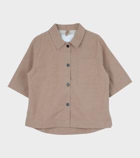 Aiayu - Box Shirt Slub Light Tabacco