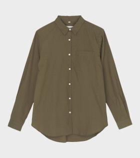 Aiayu - Shirt Essential Poplin Bark Green