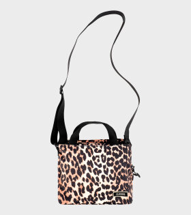 Top Handle Bag Leopard Brown
