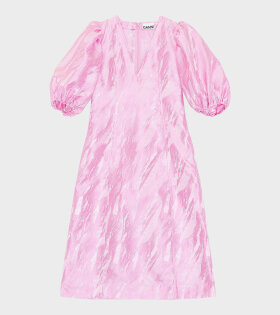 Ballon Sleeve Dress Pink