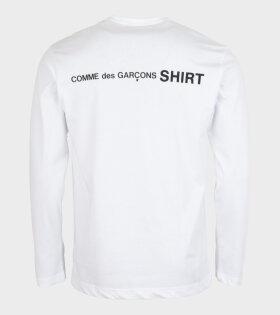 Comme des Garcons Shirt - Logo Back L/S T-shirt White